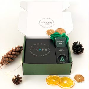 Green gift box by TRAKE