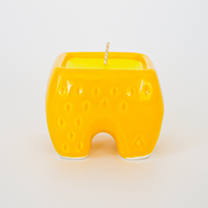 Yellow Ceramic candle